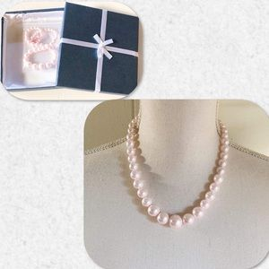 Jewelry - Strand of Faux Pink Pearls
